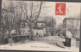 Cpa F153 MOLLEGES Avenue De La Gare Animée - France