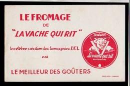Buvard Publicitaire  / La Vache Qui Rit  ,crème De Gruyère,fromage - Animaux