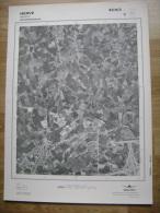 GRAND PHOTO VUE AERIENNE 66 Cm X 48 Cm De 1979  HERVE BATTICE - Cartes Topographiques