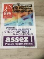 1 Affiche Du N.P.A. : Pas Question De Payer Leur Crise (86 X 62 Cm) Expédiée Pliée - Affiches