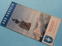 BAD GASTEIN Autriche Province Salzburg Zone Americaine ( AUSTRIA ) Brochure Edition 1953 ( Zie Foto´s ) ! - Dépliants Touristiques