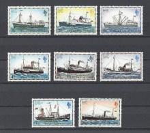 FALKLAND  . YT  254/268  Neuf **  Série Courante. Bateaux Postaux  1977 - Falkland