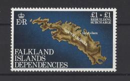 FALKLAND (Géorgie Du Sud)  . YT  115  Neuf **  Surtaxe Pour La Reconstruction  1982 - Georgia Del Sud