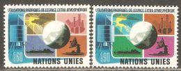 UN / Geneva 1975 Mi# 46-47 ** MNH - Peaceful Uses Of Outer Space - Space