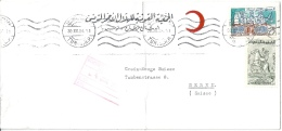 """Airmail Brief  """"Roter Halbmond""""  Tunis - Bern          1964 - Tunesien (1956-...)"""
