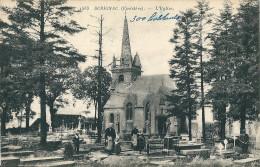 CPA 29 SCRIGNAC L´EGLISE ANIMEE CIMETIERE - France