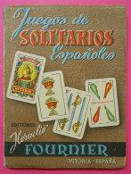 1960 Livret Librito Juegos De Solitario Espanoles Jeu De Cartes  14.3x10.7cms 120 Pages Editor Fournier Vitoria Espagne - Autres