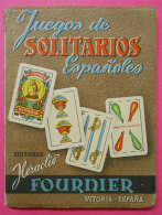 1960 Livret Librito Juegos De Solitario Espanoles Jeu De Cartes  14.3x10.7cms 120 Pages Editor Fournier Vitoria Espagne - Livres, BD, Revues