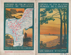 1913 Livret L Publicité Chemins De Fer De L'Etat Plages De L'ocean Constant Duval Illustrateur Editeur Mayeux & Fils - Books, Magazines, Comics