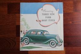 "Dépliant Publicitaire Automobile , FORD Body Types. "" JUDOR TOURING"" Et ""CONVERTIBLE SEDAN"". - Advertising"