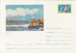 49200- FISHING, FISH, SEAHORSE, MARINE LIFE, COVER STATIONERY, 1962, ROMANIA - Maritiem Leven