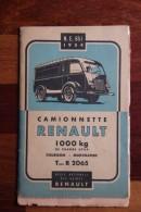 Livre Technique De 1954 édité Par RENAULT Concernant La Camionnette RENAULT Type R 2065, Complet 50 Pages - Auto