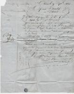 LETTRE COMMERCIALE BONNEAU RAMBAUD à MARANS  FROMENT 1864 Pour  MM. FOULD BANQUIERS PARIS V.SCANS - France