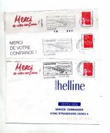 Lettre Flamme  Audierne Station Balneaire3 Types - Oblitérations Mécaniques (flammes)