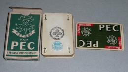 Rare Ancien Jeu De Cartes, Publicitaire PEC Pastis Marseillais, Anis Anisette, Logo Bouffon Fou - 32 Cartes