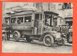 """Automobile - Voiture - Vieux SAURER Ancêtre De PULLMAN - """" Il était Une Fois L'auvergn     (non écrite Et Non Oblitérée) - Cartes Postales"""