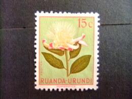 RUANDA - URUNDI 1953 FLEURS FLORA BLOEMEN COB Nº 178 * MH - Ruanda
