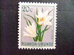 RUANDA - URUNDI 1953 FLEURS FLORA BLOEMEN COB Nº 179 * MH - Ruanda