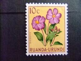 RUANDA - URUNDI 1953 FLEURS FLORA BLOEMEN COB Nº 177 * MH - Ruanda