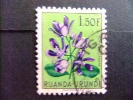 RUANDA - URUNDI 1953 FLEURS FLORA BLOEMEN COB Nº 187 º FU - Ruanda