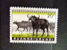 RUANDA - URUNDI 1959 FAUNA DIEREN COB Nº 206 º FU - Ruanda