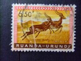 RUANDA - URUNDI 1959 FAUNA DIEREN COB Nº 214 º FU - Ruanda