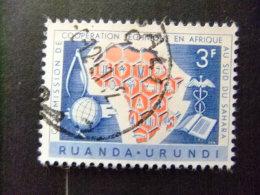 RUANDA - URUNDI 1960 10º ANIVERSARIO DE COOPERACION AFRICA Y SAHARA Yvert & Tellier Nº 217º FU - Ruanda