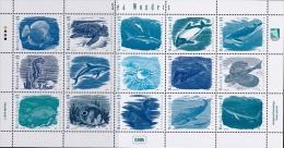 Marshall Islands 2015 Sea Wonders Fishes Dolphin Turtle Whales Minisheet MNH - Vissen
