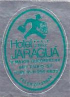 BRASIL SAO PAULO HOTEL JARAGUA VINTAGE LUGGAGE LABEL - Hotel Labels