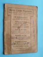 Bank CREDIT POPULAIRE Statieplein 2-3 ANTWERPEN ( Van Den Biglaer Lodewyk / Zie Foto's Voor Detail ) ! - Cheques & Traveler's Cheques