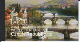 UN-New York. Scott # 1144a-i, Mint Booklet. Unesco World Heritage. Joint Issue With Czech. Rep. 2016 - Gezamelijke Uitgaven