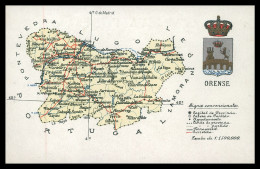 GALIZA - ORENSE - MAPAS - Orense ( Ed. Atlas Geografico De Espanha Nº 32 ) Carte Postale - Orense