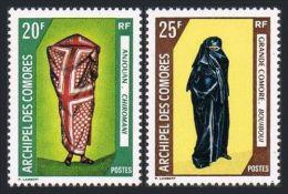 Comores, Comoros, 1970, Women's Clothing, MNH, Michel 108-109