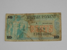 10 Ten Cents - Série 692 Military Payment Certificate 1970  *** EN ACHAT IMMEDIAT *** - Military Payment Certificates (1946-1973)