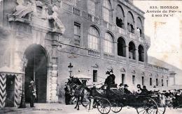 MONACO - Arrive Du Prince A Son Palais, 190?, Abgelöste Marke - Ohne Zuordnung
