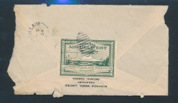 Canada #CL2 Cvr 1924 25c Green Laurentide Air Service Commercial Cover, Unfortunately, A Back Only... - Airmail