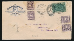 Canada #E1, J1 Cvr 1906 Special Delivery Postage Due Cover, Canada Stationery Co. (embossed Corner... - Unclassified