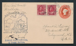Canada #127i Cvr 1933 2c Carmine Admiral Paste-Up Coil Pair On Cover, Uprating A 2c Stationery... - Unclassified