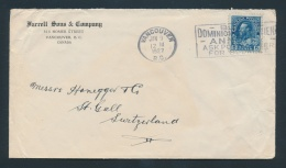 Canada #115 Cvr Two 8c Blue Admiral Single Franking Covers, 1928 To Germany With Coloured... - Unclassified