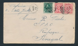 Canada #90, 104 Cvr 1912 Edward And Admiral Cover To Senegal, Mailed From Hearst Ont (new Earliest... - Unclassified