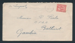 Canada #90 Cvr 1912 2c Edward Cover To Gambia, Mailed From Hobon, Ont (only The Second Recorded... - Unclassified