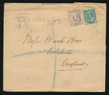 Canada #89, 93 Cvr 1907 KEVII Triple Empire Rate Plus Registration Cover, Large Cover Mailed On... - Unclassified