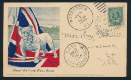 Canada #89 Cvr 1906 Patriotic Private Post Card, Mailed From Ottawa, Ontario (dated MAY.30.1906)... - Unclassified