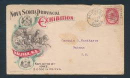 Canada #77 Cvr 1902 Multi-Colour Nova Scotia Provincial Exhibition Advertising Cover, Franked With... - Unclassified