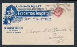Canada #68 Cvr 1902 Canada's Great Agricultural & Industrial Exposition, Toronto Advertising... - Unclassified
