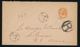 Canada #82 Cvr 1898 8c Orange QV Numeral On Registered Domestic Cover, Mailed St Joseph De Beauce... - 1851-1902 Reign Of Victoria