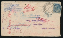 Canada #79 Cvr 1901 5c Numeral Cover To South Africa, Mailed In Halifax (?) Nova Scotia On... - 1851-1902 Reign Of Victoria