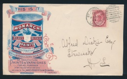 Canada #77 Cvr 2c Carmine Numeral On 1902 Monarch Paints Illustrated Advertising Cover, Mailed At... - 1851-1902 Reign Of Victoria