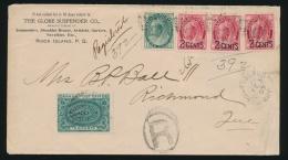 Canada #75, 87, E1 Cvr 1900 Rock Island Que Registered And Special Delivery Cover, Mailed... - 1851-1902 Reign Of Victoria