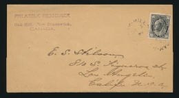 Canada #66 Cvr 1897 ½c Black QV Numeral Single On Wrapper, Mailed From The Philatelic... - 1851-1902 Reign Of Victoria